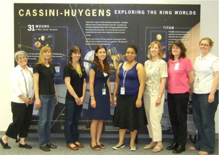 Photo of SLIS alumni and students working for NASA Ames summer 2009