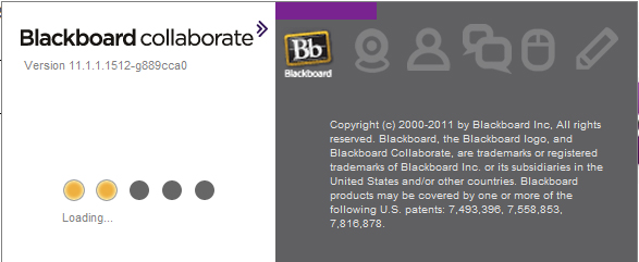 Blackboard Collaborate session is loading